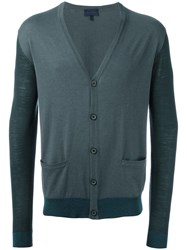 Lanvin Patch Pocket Cardigan Grey