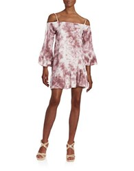 Design Lab Lord And Taylor Floral Cutout Dress Tie Dye