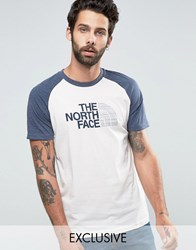 The North Face Raglan Sleeve T Shirt Exclusive Ceq2 Bct Blue