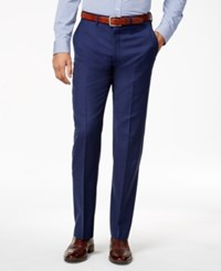 Ryan Seacrest Distinction Men's Blue Solid Slim Fit Pants Only At Macy's