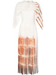 Christian Siriano Draped Sleeve Pleated Dress 60