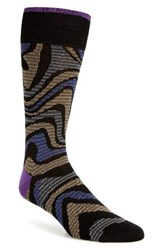 Bugatchi Men's Alternating Wave Socks