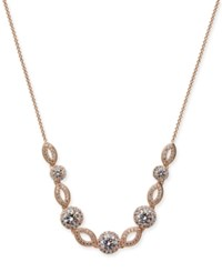 Danori Silver Tone Crystal And Pave Collar Necklace 16 2 Extender Also Available In Rose Gold Tone