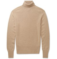 Tomas Maier Slim Fit Cashmere Rollneck Sweater Neutrals