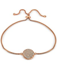 Giani Bernini Cubic Zirconia Pave Disc Adjustable Bracelet In 18K Yellow Or Rose Gold Plated Sterling Silver Or Sterling Silver Only At Macy's