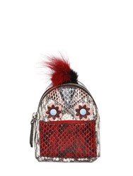 Fendi Micro Elaphe Backpack Charm W Fur