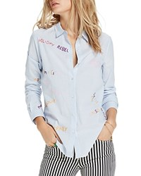 Scotch And Soda Rebel Embroidered Button Down Shirt Combo A