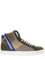 Hogan Rebel Leather And Papirok High Top Sneakers