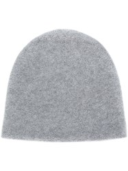 N.Peal Knitted Beanie Hat Grey