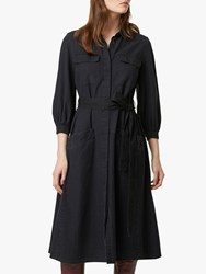 French Connection Luisa Chambray Shirt Dress Black