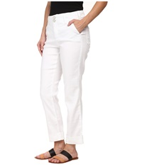 Nydj Petite Petite Leann Boyfriend In Optic White Optic White Women's Jeans