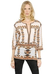 Isabel Marant Printed Modal Cotton Gauze Top