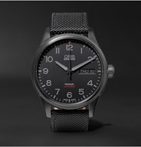 Oris Air Racing Edition V Stainless Steel Watch Black