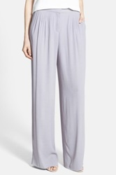 Chelsea 28 Wide Leg Pleated Pants Gray