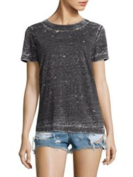 N Philanthropy Fox Distressed Tee Black Cat
