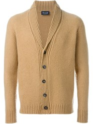 Drumohr Shawl Collar Cardigan Nude And Neutrals