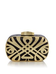Biba Logo Box Clutch Bag Gold