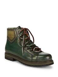 Saks Fifth Avenue Damian Lace Up Boots Green