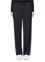 Vince Pinstripe Tailored Track Pants Black