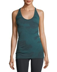 Hpe Camouflage Seamless Racerback Tank Blue