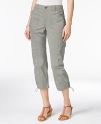 Styleandco. Style Co. Petite Bungee Hem Cargo Capri Pants Only At Macy's Misty Harbor