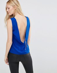 Vero Moda Chain Tank Top Shiny Cobalt Blue
