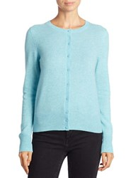 Lord And Taylor Basic Crewneck Cashmere Cardigan Icelandic Heather