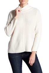 Cotton Emporium Seamed Turtleneck White