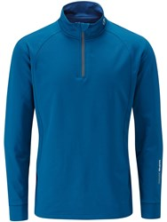 Oscar Jacobson Men's Rock Thermal Half Zip Mid Blue