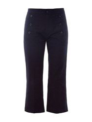 Etoile Isabel Marant Macey Cropped Boot Cut Drill Trousers