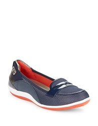 Anne Klein Welcome Cushioned Flats Navy Blue