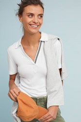 Anthropologie Brittany Collared Tee White