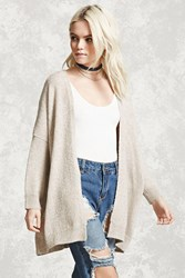 Forever 21 Marled Knit Dolman Cardigan Oatmeal