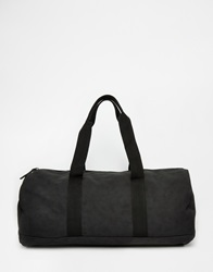 Asos Barrel Bag In Black Faux Leather