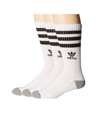 Adidas Originals Roller Crew Sock 3 Pack White Black Heather Grey Men's Crew Cut Socks Shoes