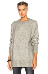 R 13 R13 Oversized Crewneck Sweater In Gray