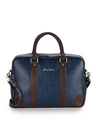 Robert Graham Paisley Faux Leather Briefcase Blue