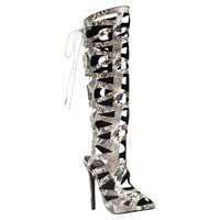 Kg By Kurt Geiger Hazard Caged High Heel Sandals Beige Multi