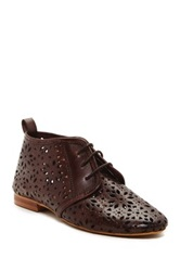 Sixtyseven Kelly Perforated Leather Bootie Brown