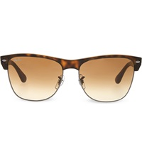 Ray Ban Matte Square Havana Sunglasses With Brown Tinted Lenses Rb4175 57 Shiny Gunmetal