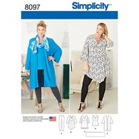 Simplicity Women's Tunic Sewing Pattern 8097