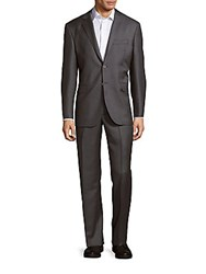 Yves Saint Laurent Two Button Wool Suit Grey