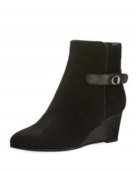 Aquatalia By Marvin K Jennifer Weatherproof Suede Wedge Bootie Black