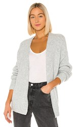 1.State 1. State Belted Jersey Stitch Cardigan In Gray. Silver Heather