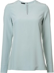 Akris Longsleeved Blouse Blue