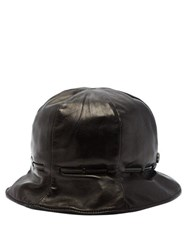 Gucci Leather Bucket Hat Black