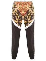 Versace Baroque Print Technical Track Pants Black Multi