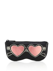 Rebecca Minkoff Heart Sunnies Leather Sunglass Pouch Black