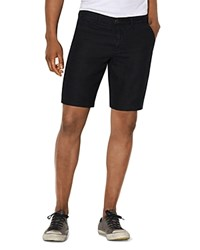 John Varvatos Star Usa Linen Slim Fit Shorts Black
