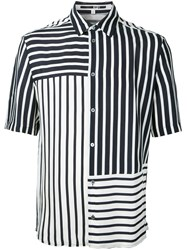 Mcq By Alexander Mcqueen Striped Shirt Men Cupro 46 Black